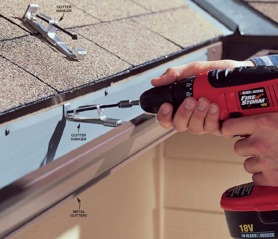 How to repair gutters