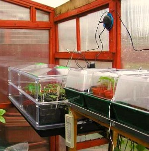 Greenhouse Propagating Benches, Electric Propagators