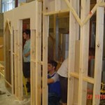 Timber stud-work partitions