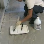 Laying a floor of vinyl tiles