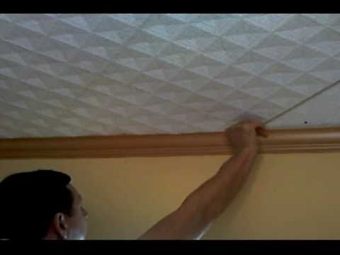 Fitting Polystyrene Tiles To Ceilings