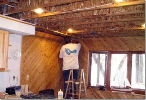 Fitting A Suspended Timber Ceiling