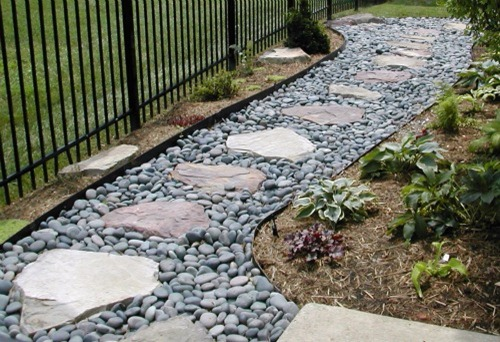 Garden Path Gravel And Stepping Stones
